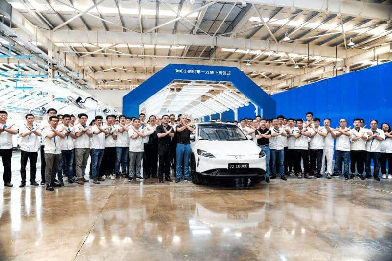 Xpeng Motors fährt 10.000 G3 vom Band