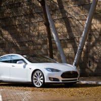 Tesla Model S Brand in Belgien