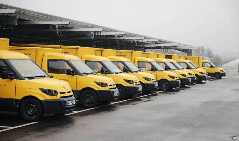 E-Flotte der deutschen Post spart Emissionen