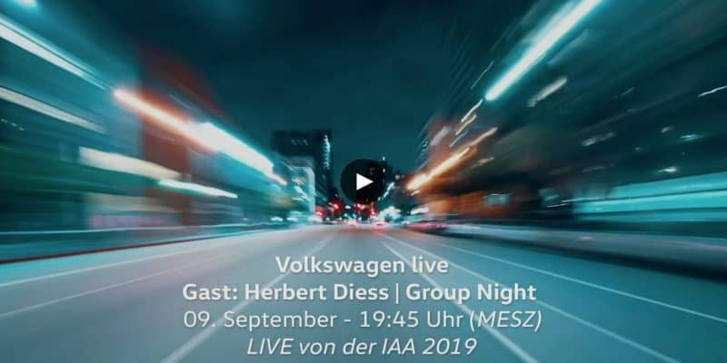 VW IAA Livestream Group Night