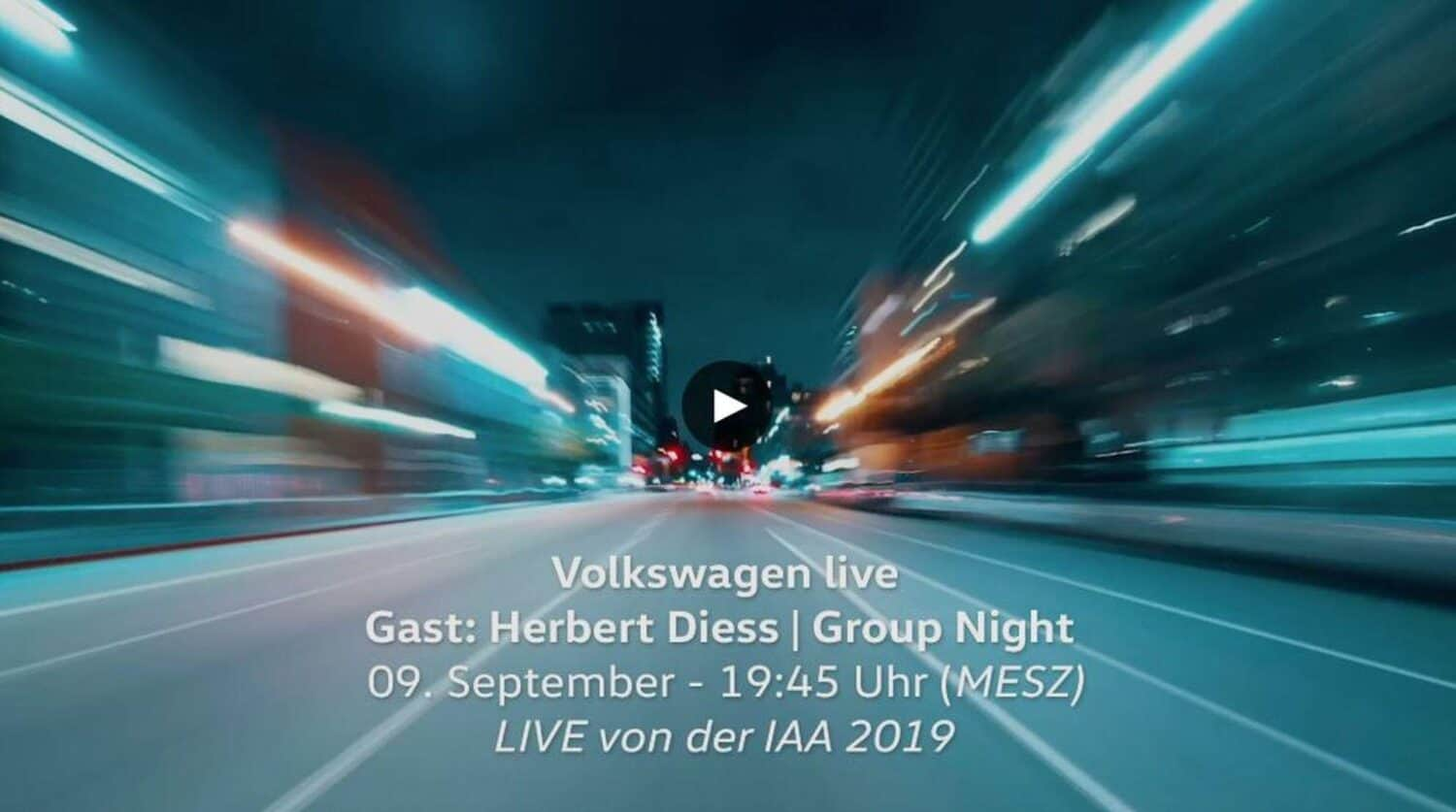 VW IAA Livestream Group Night