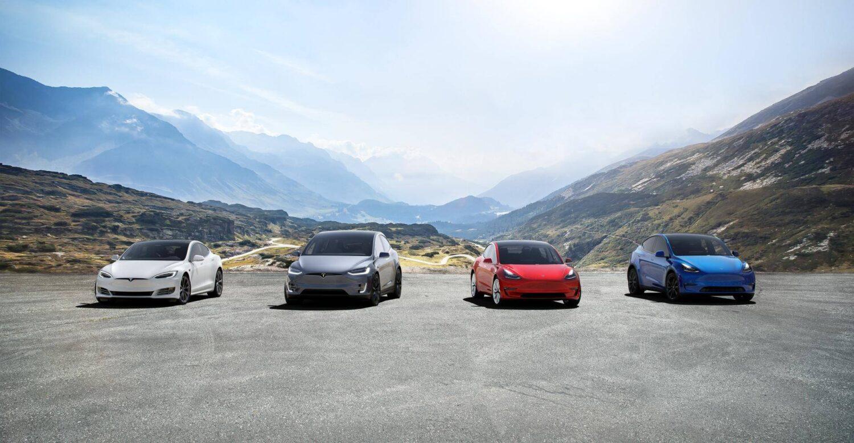 Tesla Fahrzeug Familie