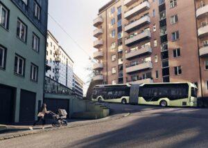 Volvo nimmt ersten Elektro-Gelenkbus in Serie