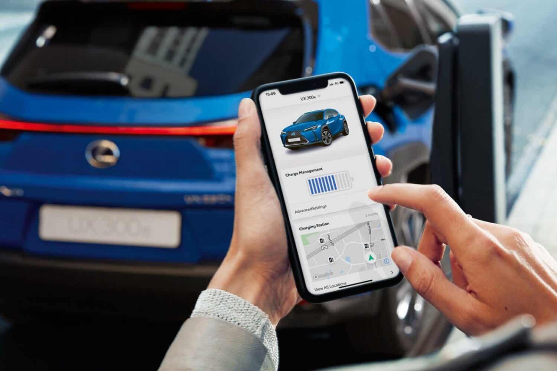Lexus App im Einsatz