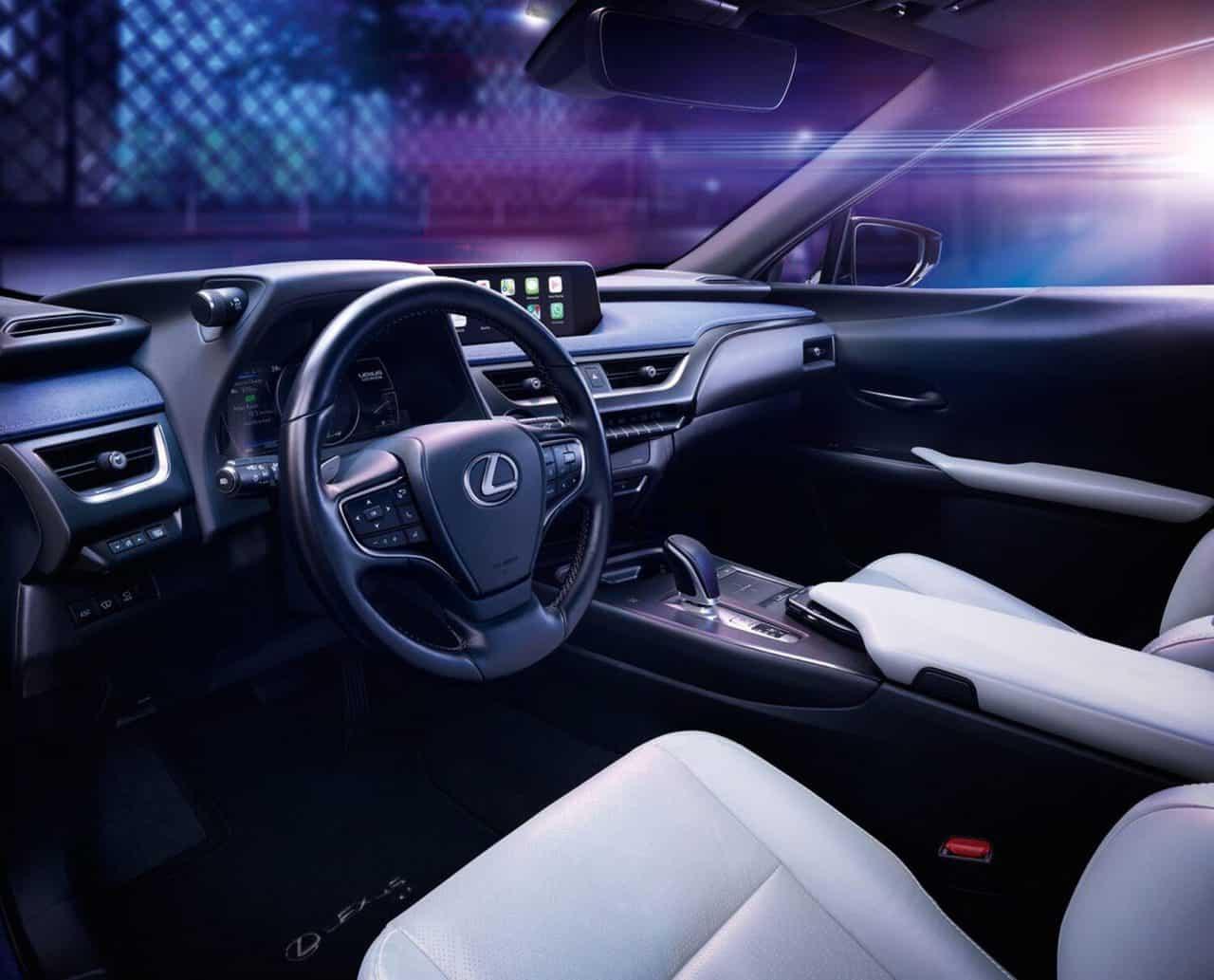 Innenraum des ersten E-Auto von Lexus