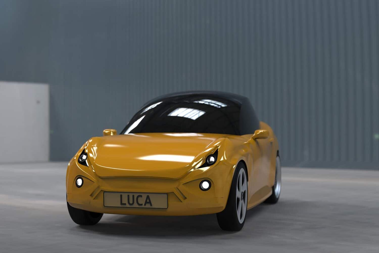 Luca - Elektroauto aus recyclten PET-Flaschen