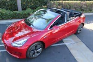 NCE baut Tesla Model 3 zum Cabrio um