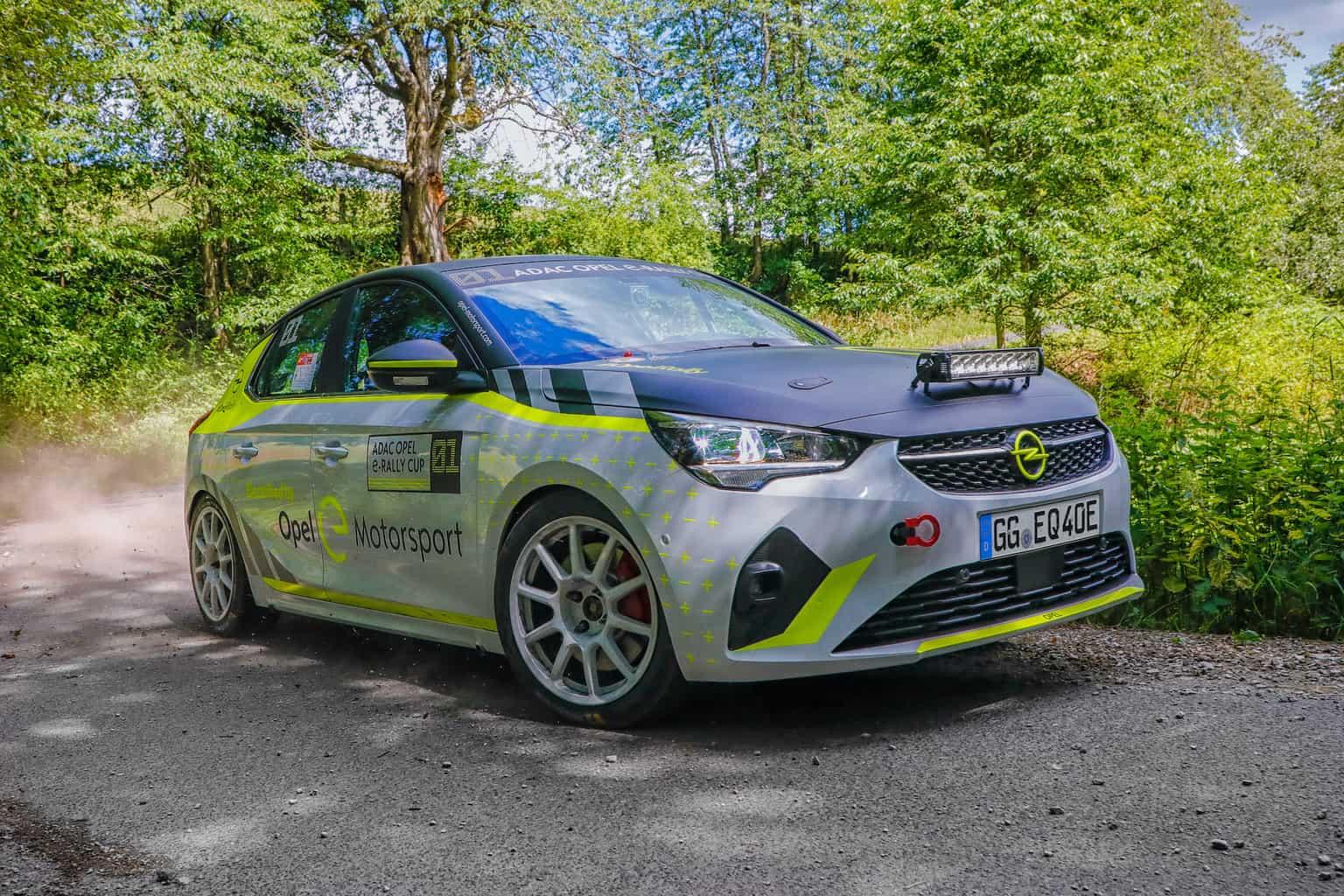 rein elektrischer adac opel e-rally cup startet im