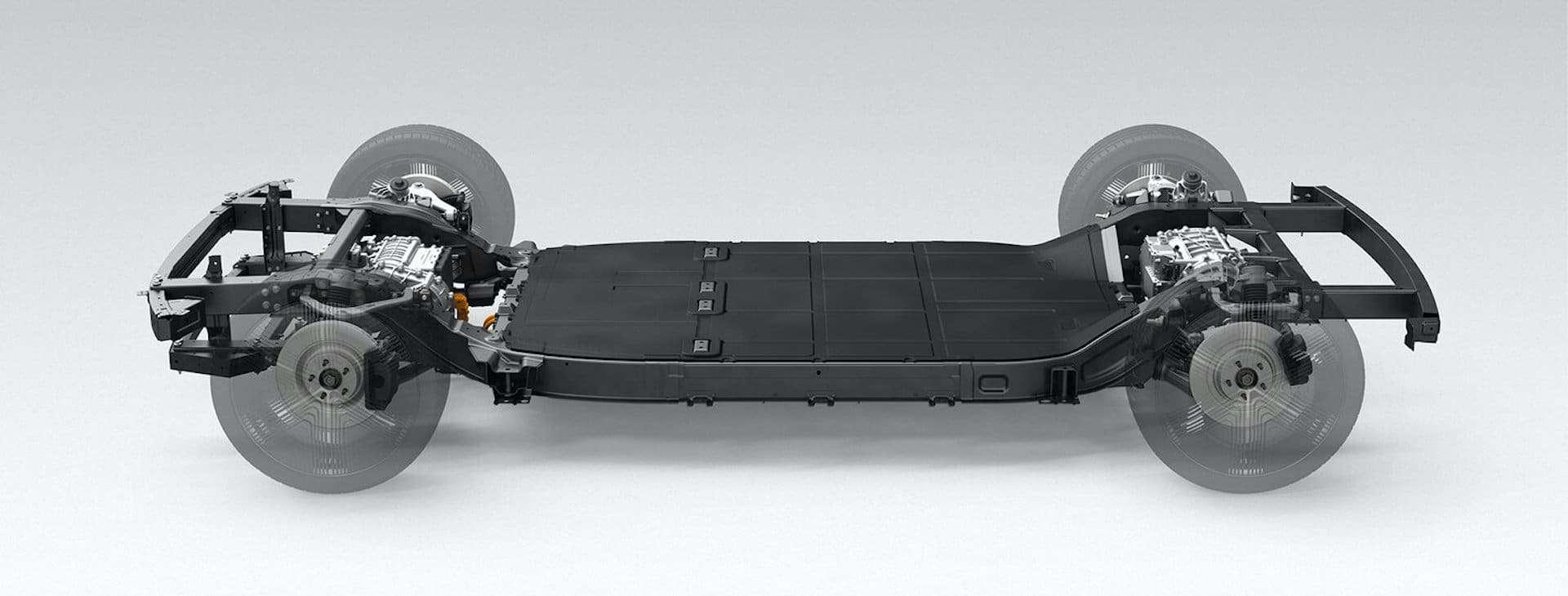 Canoo Elektroauto Skateboard Plattform