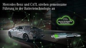 Mercedes-Benz und CATL strebe n gemeinsame Führung in der Batterietechnologie an