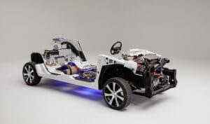 Toyota Mirai Wasserstoffauto Schnittmodel