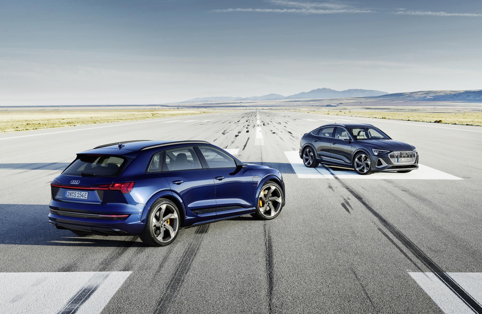 Der Audi e-tron und e-tron Sportback jetzt auch als S-Version zu haben