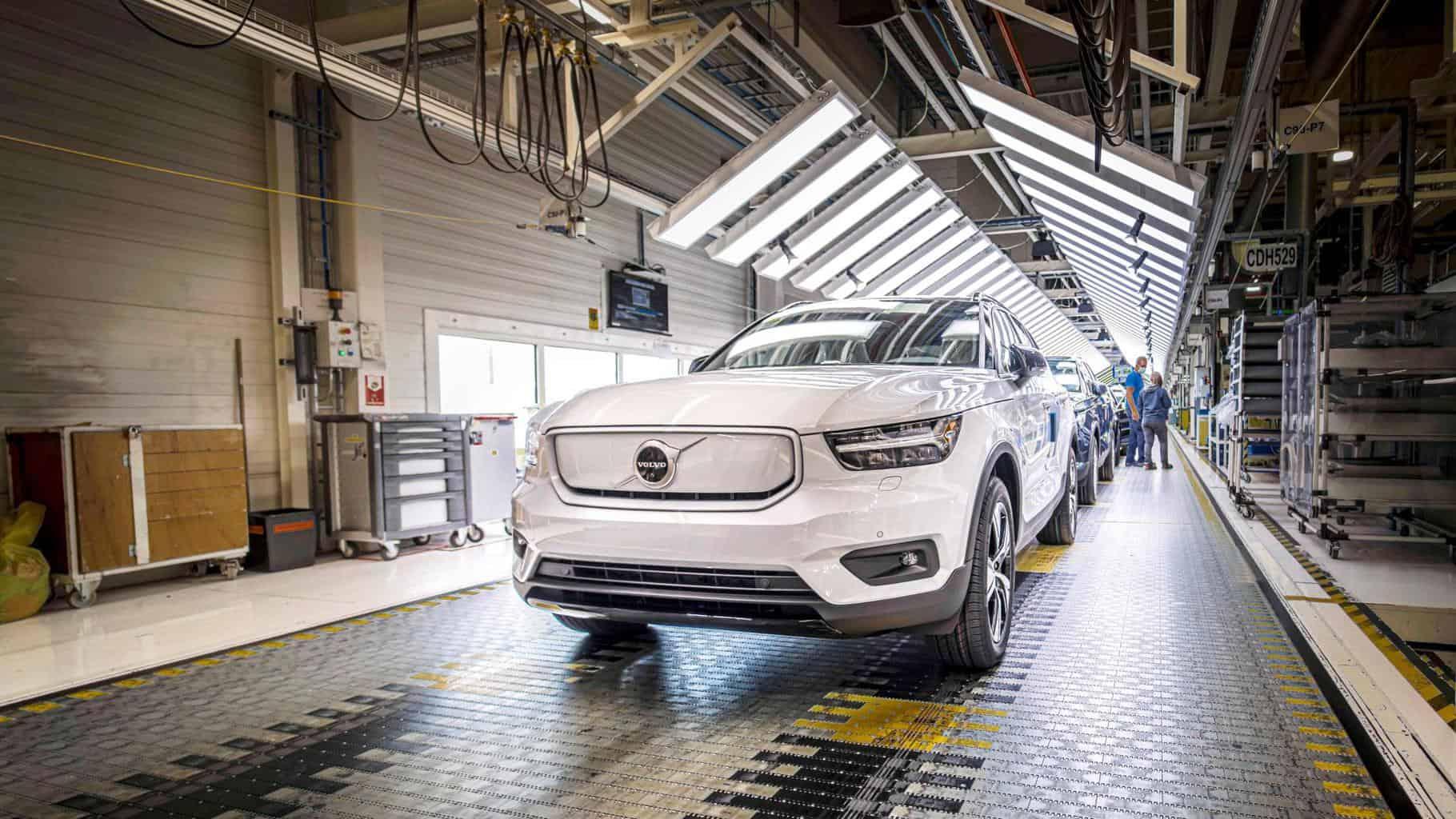 Volvo beginnt mit der Produktion des elektrischen SUV XC40 Recharge