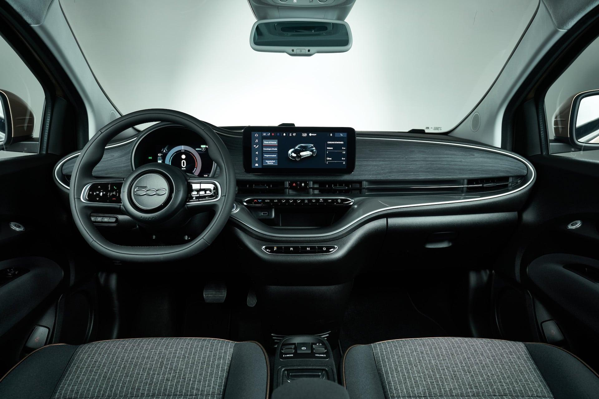 Fiat-500-Elektroauto-Innenraum