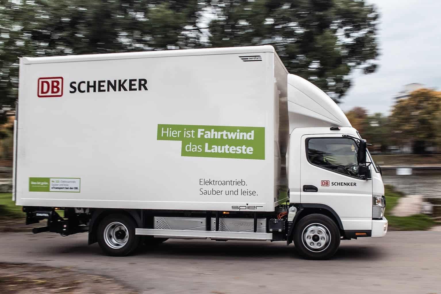 Fuso Elektrotransporter eCanter DB Schenker