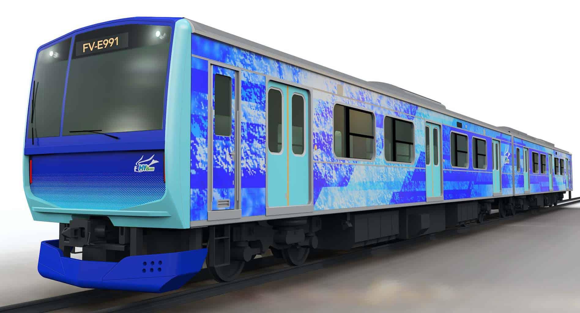 Toyota-Hitachi-Wasserstoff-Brennstoffzelle-Zug