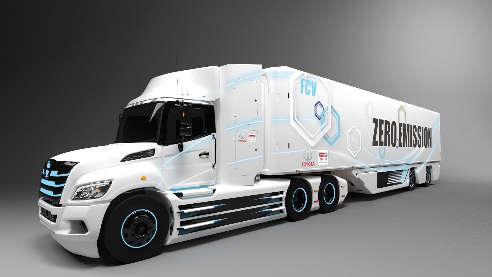 Toyota-Wasserstoff-Brennstoffzelle-Lkw
