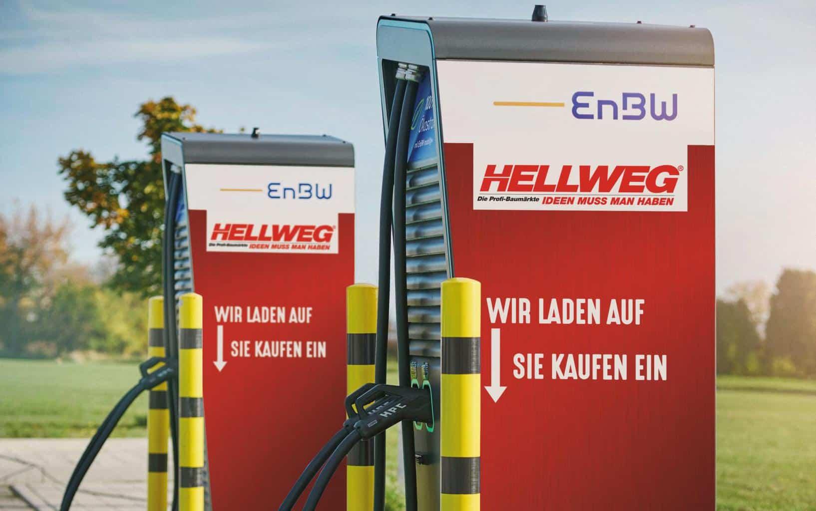 EnBW: Weitere 80 Ultraschnellladestationen für HELLWEG Bau- und Gartenmärkte