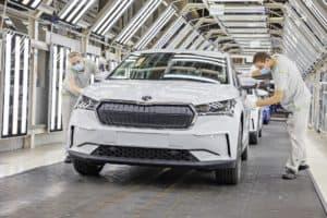 Serienproduktion des Škoda ENYAQ iV im Werk Mladá Boleslav gestartet