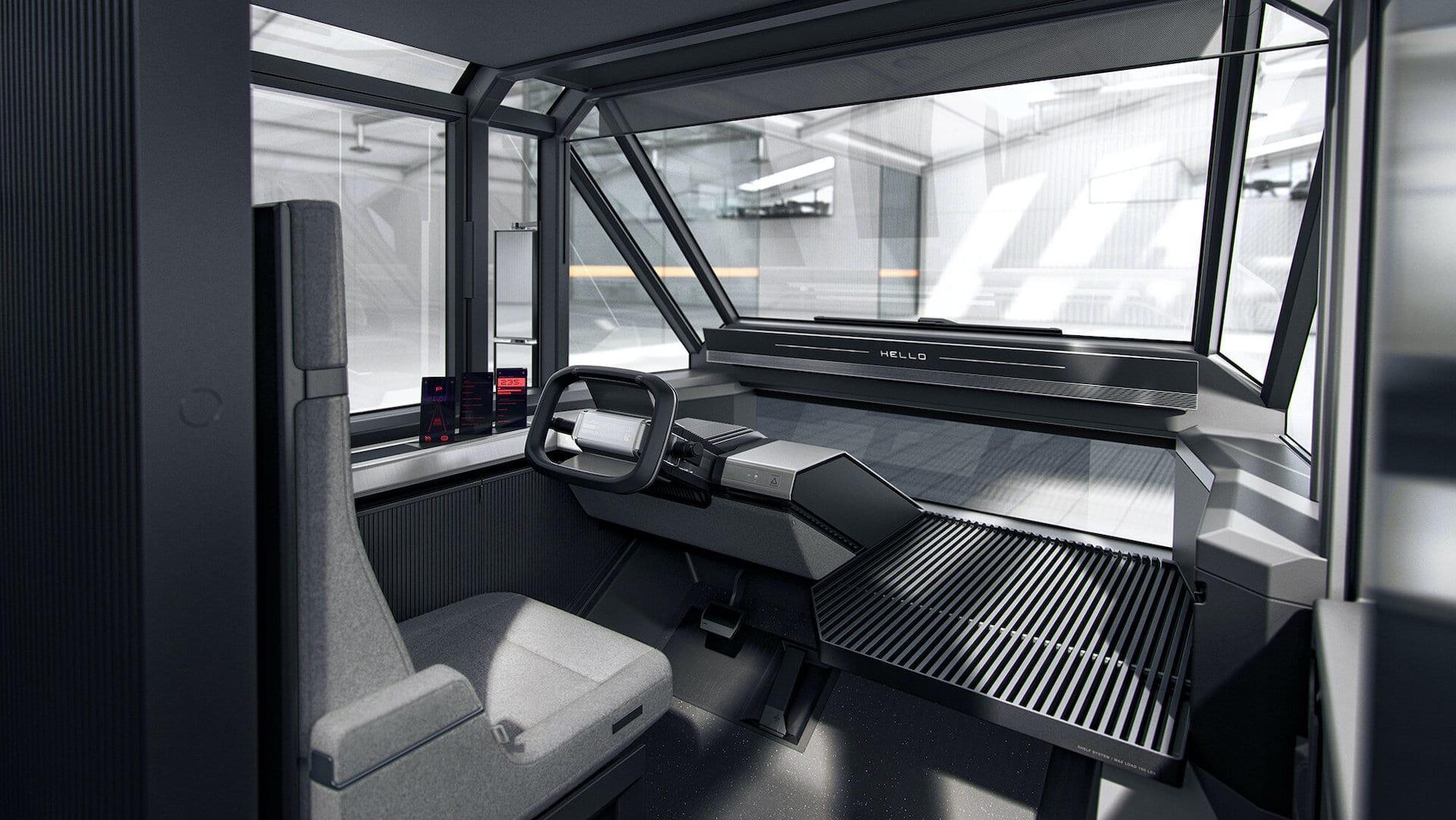 Canoo-Elektro-Lieferwagen-Innenraum