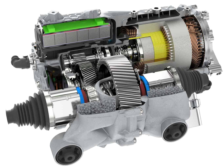 Porsche-3D-Druck-Elektromotor-Schnitt