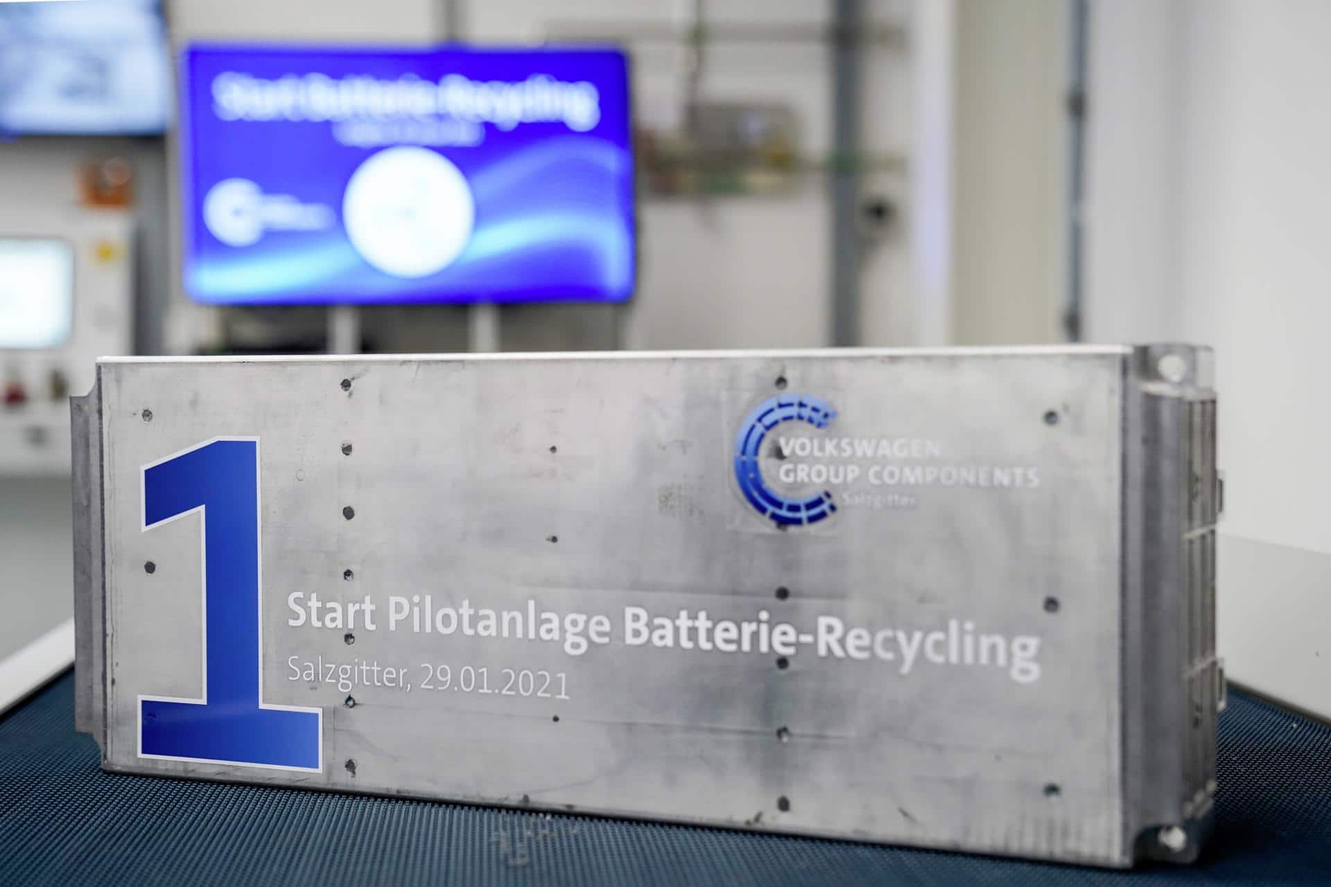 VW startet mit Batterie-Recycling