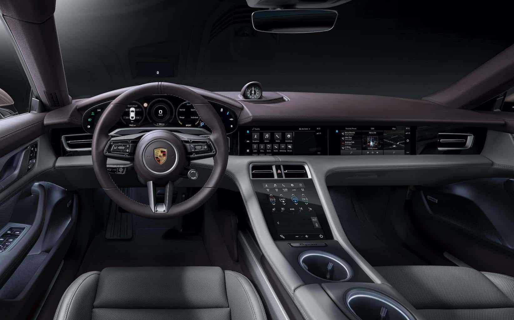 Porsche-Taycan-Elektroauto-Einstiegsvariante-Cockpit