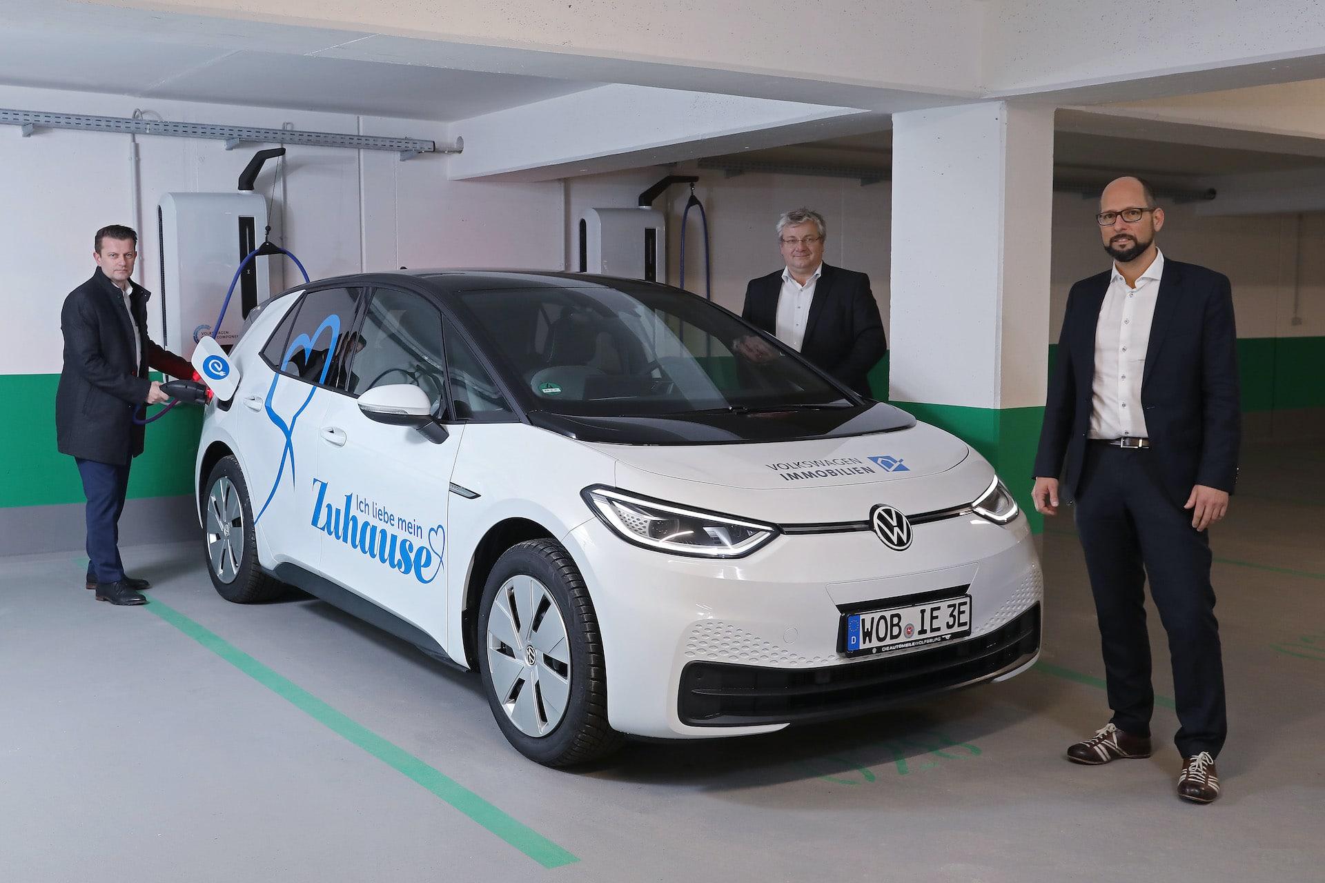 VW-Immobilien-Ladestation