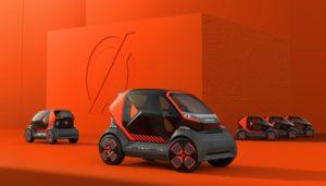 Mobilize Prototypen EZ-1: Erstes Shared Mobility konzipierte Stadt-Fahrzeug