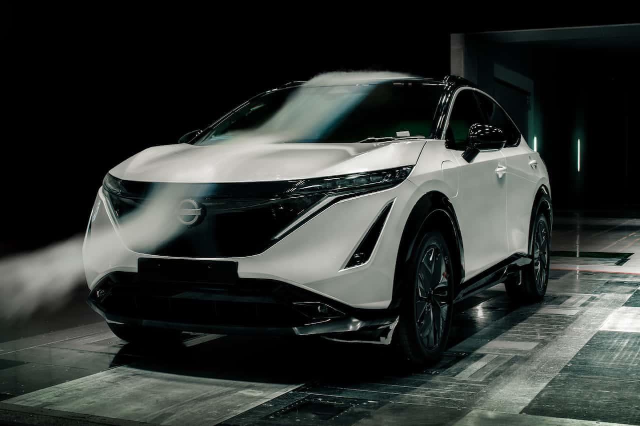 Elektroautos Nissan Ariya Aerodynamik