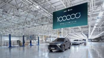 NIO feiert 100.000 gefertigte E-Autos & erste ET7-Rohkarosserie