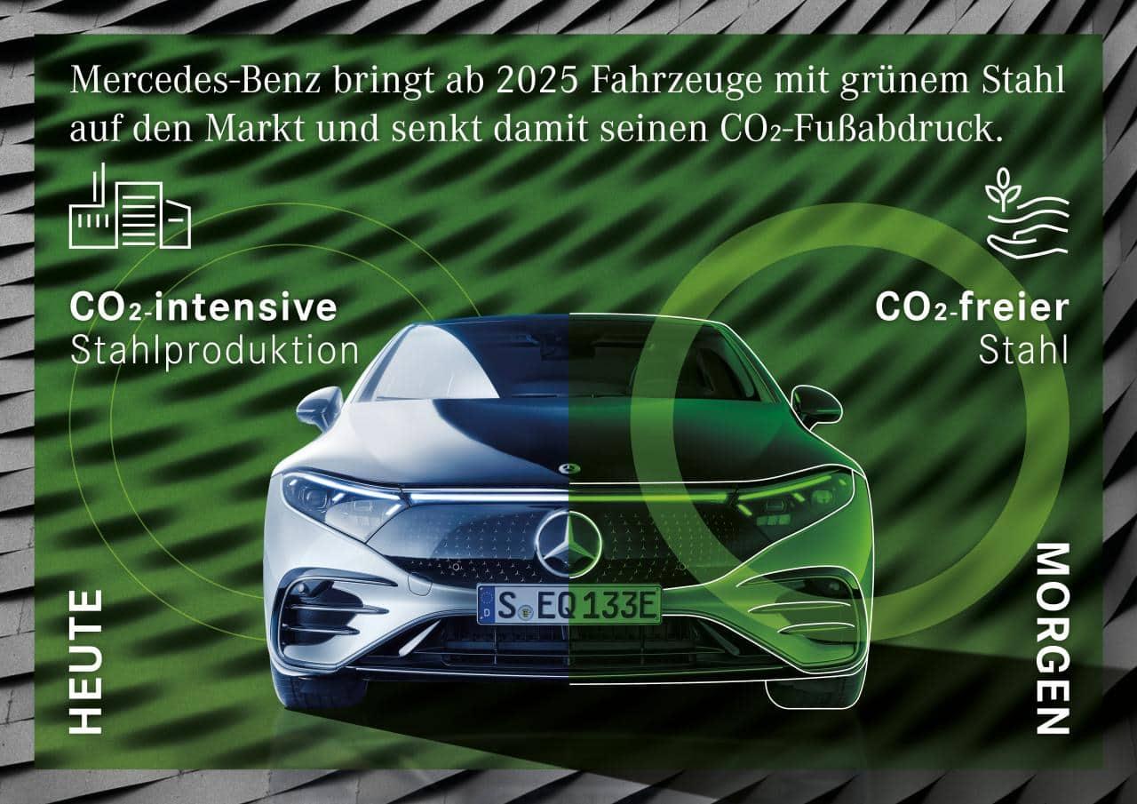 """Mercedes-Benz setzt verstärkt auf """"grünen"""" Stahl"""