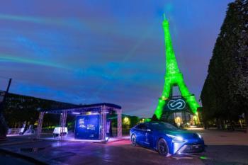 Wasserstoff-Generator: Toyota taucht Eiffelturm in Grün