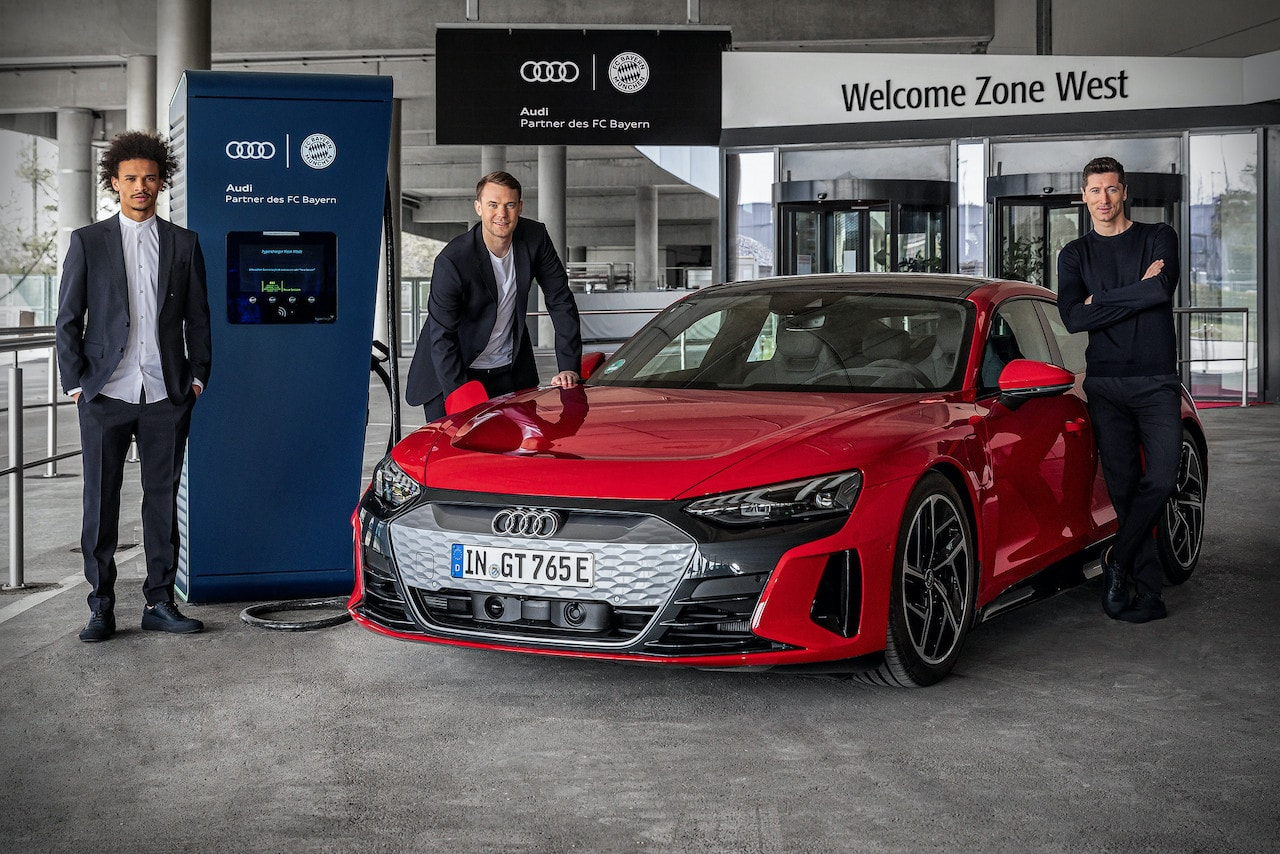 Audi-FC-Bayern-Elektroauto-Allianz-Arena