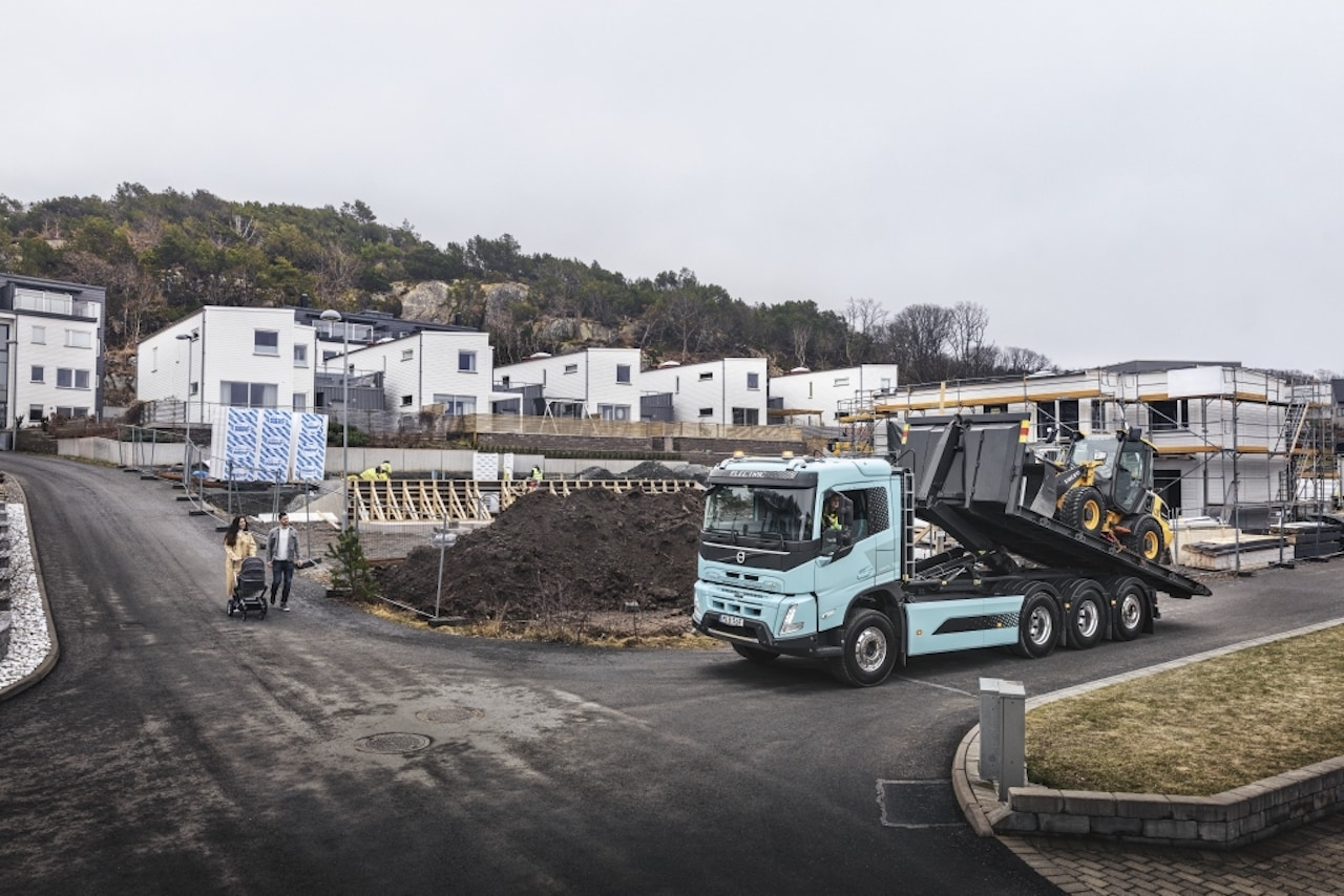 Volvo-Elektro-Lkw-Baustelle