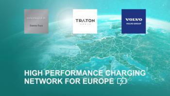 Lkw-Riesen planen Hochleistungs-Ladenetz für Europa