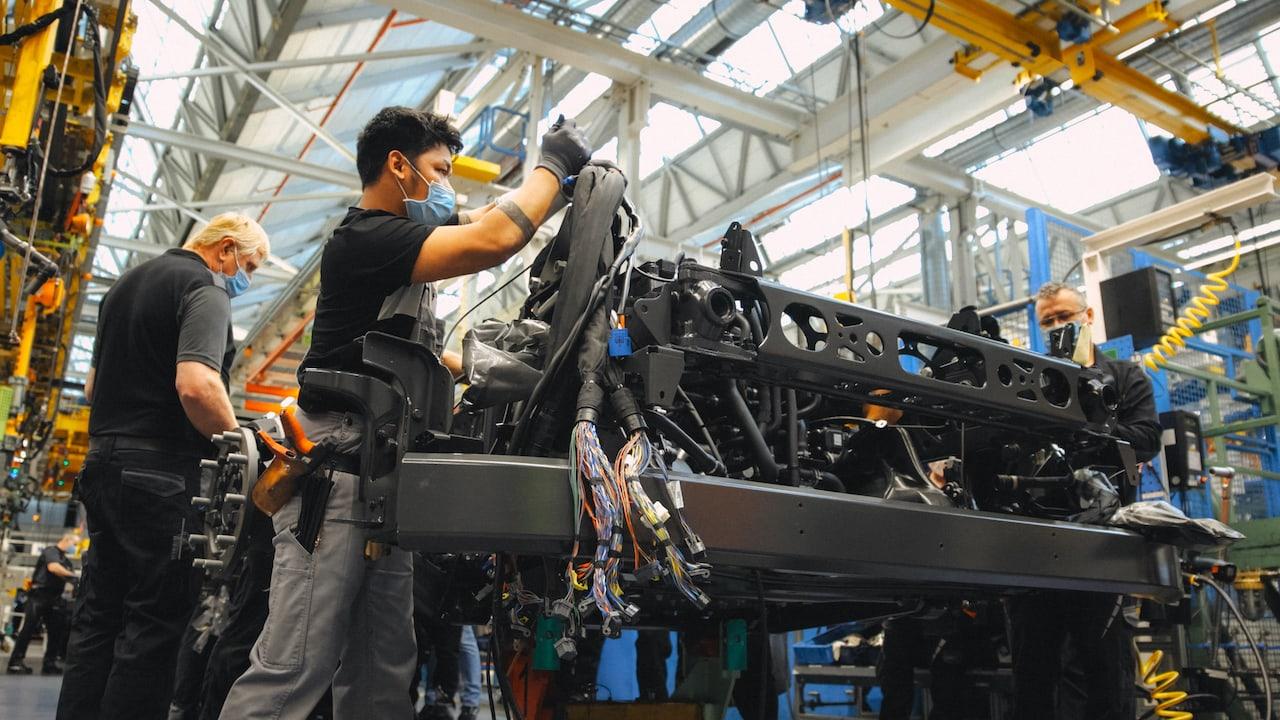 Mercedes-Elektro-Wasserstoff-LKW-Produktion