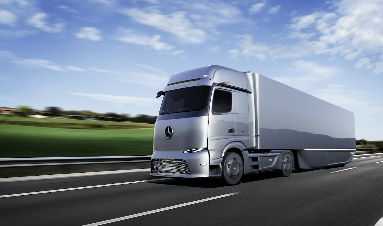 Mercedes-Elektro-Wasserstoff-LKW