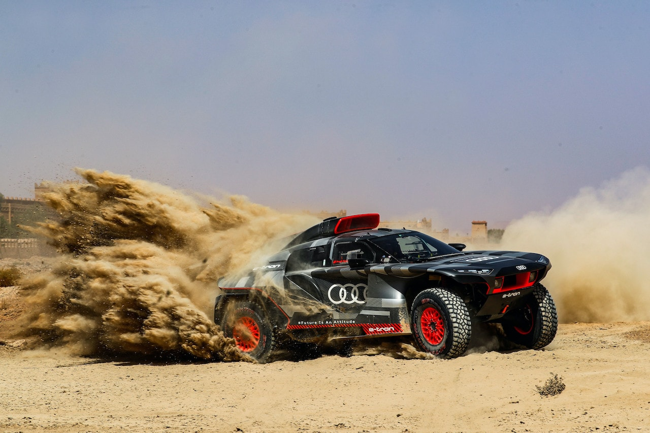 Rallye Dakar: Audi testet Rallyestromer RS Q e-tron in Marokko