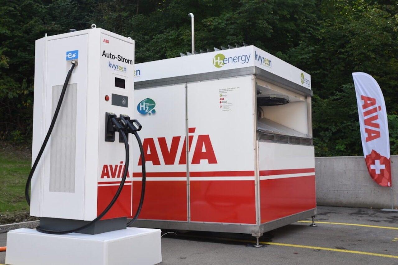 Elektroauto-Wasserstoff-Schnelllader-Schweiz