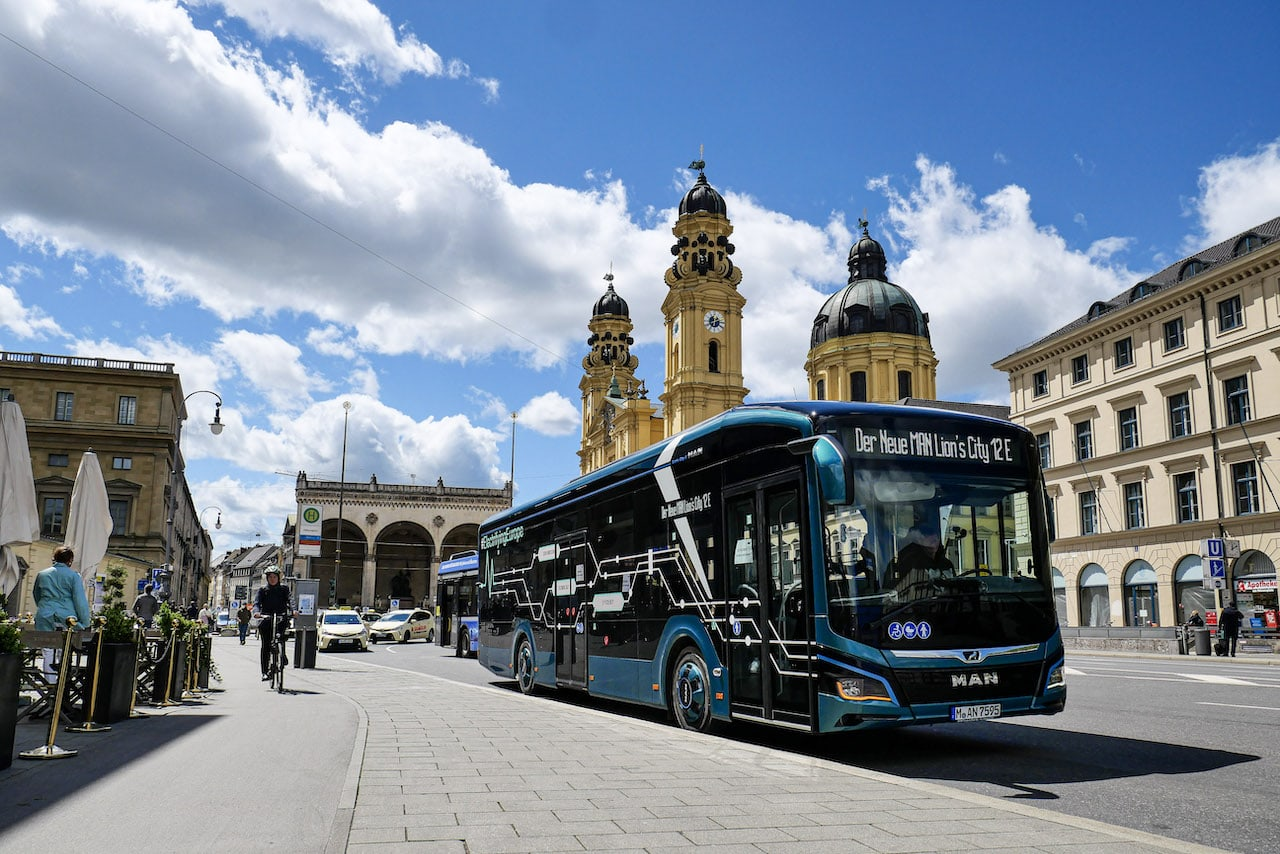 Elektromobilität-ÖPNV-Elektrobus-MAN-München