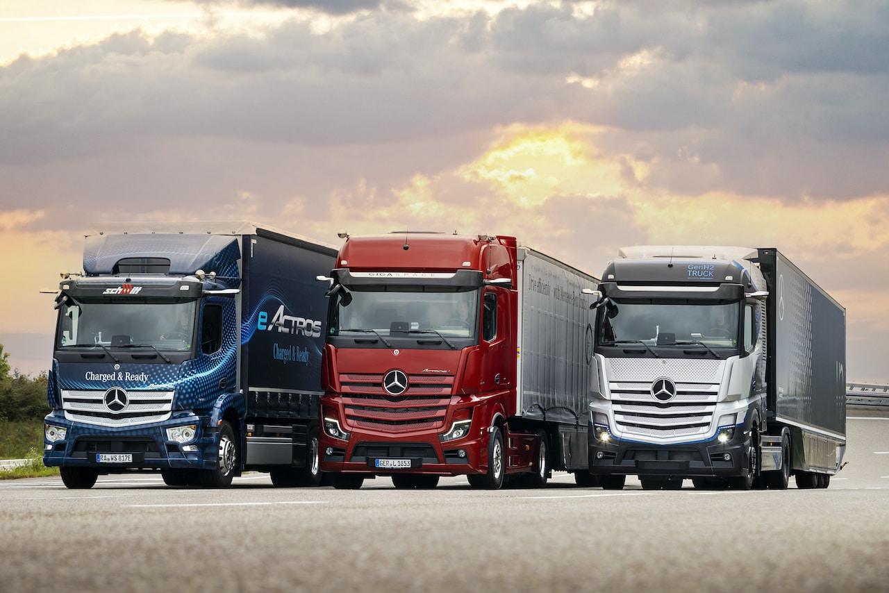 Mercedes-Benz-Elektro-Wasserstoff-Lkw