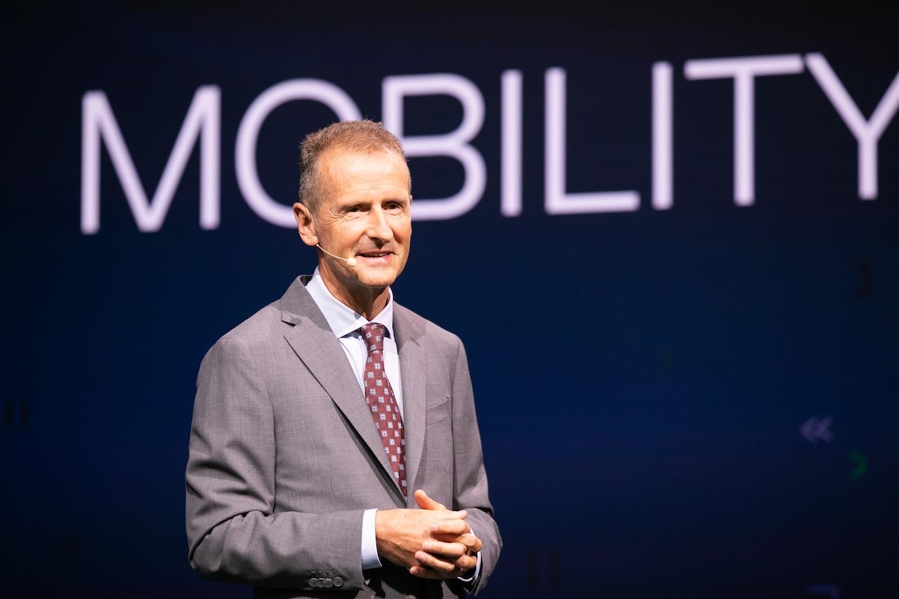 """Herbert Diess: """"Wir müssen den Verkehr durch grüne Elektrifizierung dekarbonisieren"""""""