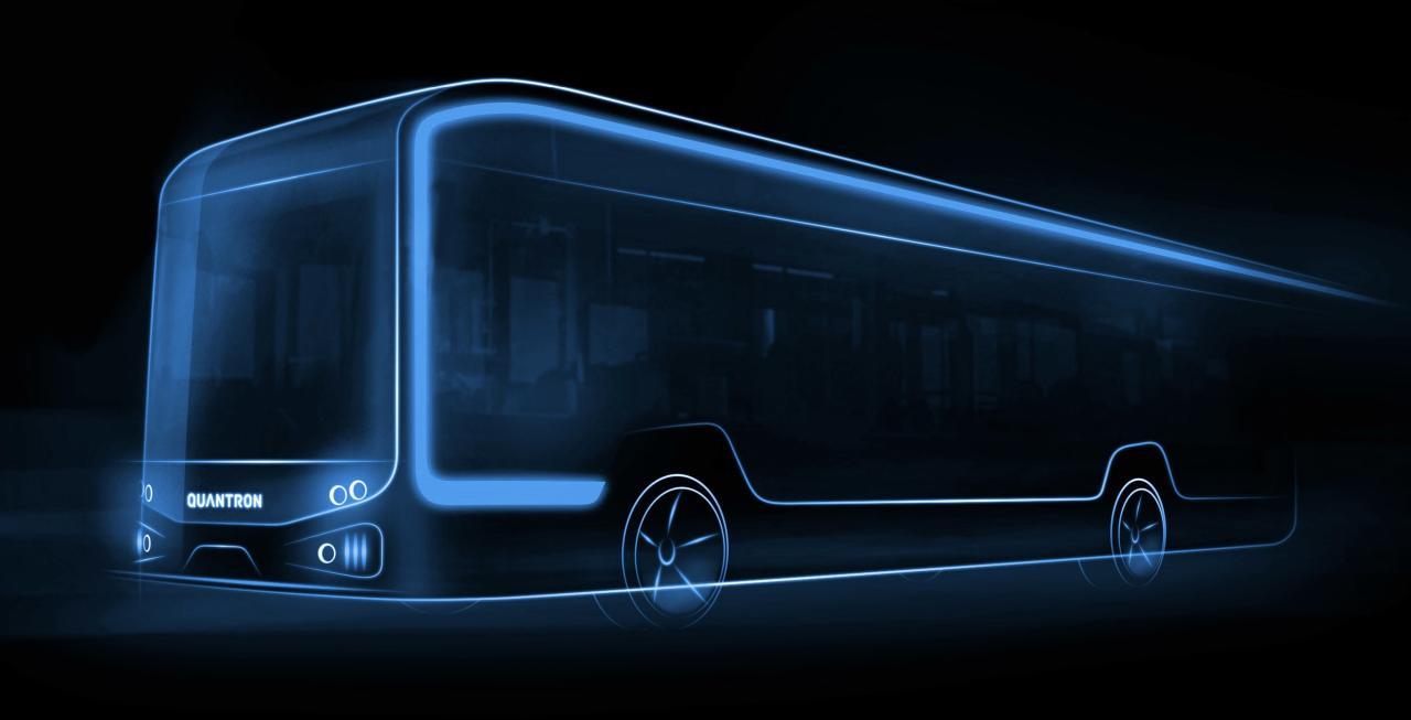 QUANTRON bringt E-Bus auf den Markt - mit Brennstoffzelle oder Batterie