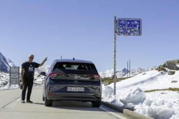 Rekordfahrt im VW ID.3: Mit einer Batterieladung über 15 Pässe