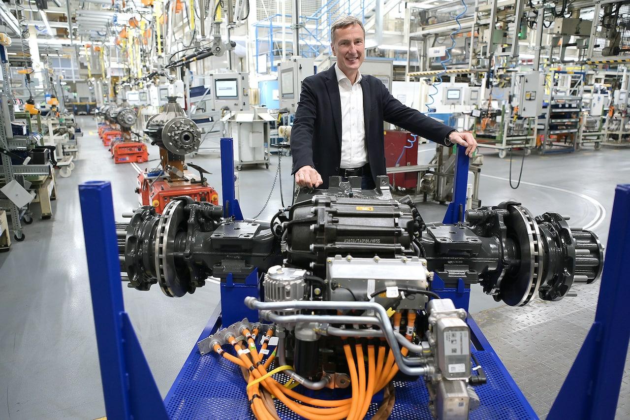 Mercedes-Benz-Elektro-Lkw-eActros-Elektromotor