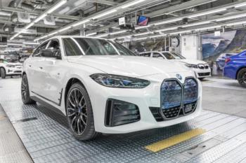 Serienanlauf für vollelektrischen BMW i4 gestartet