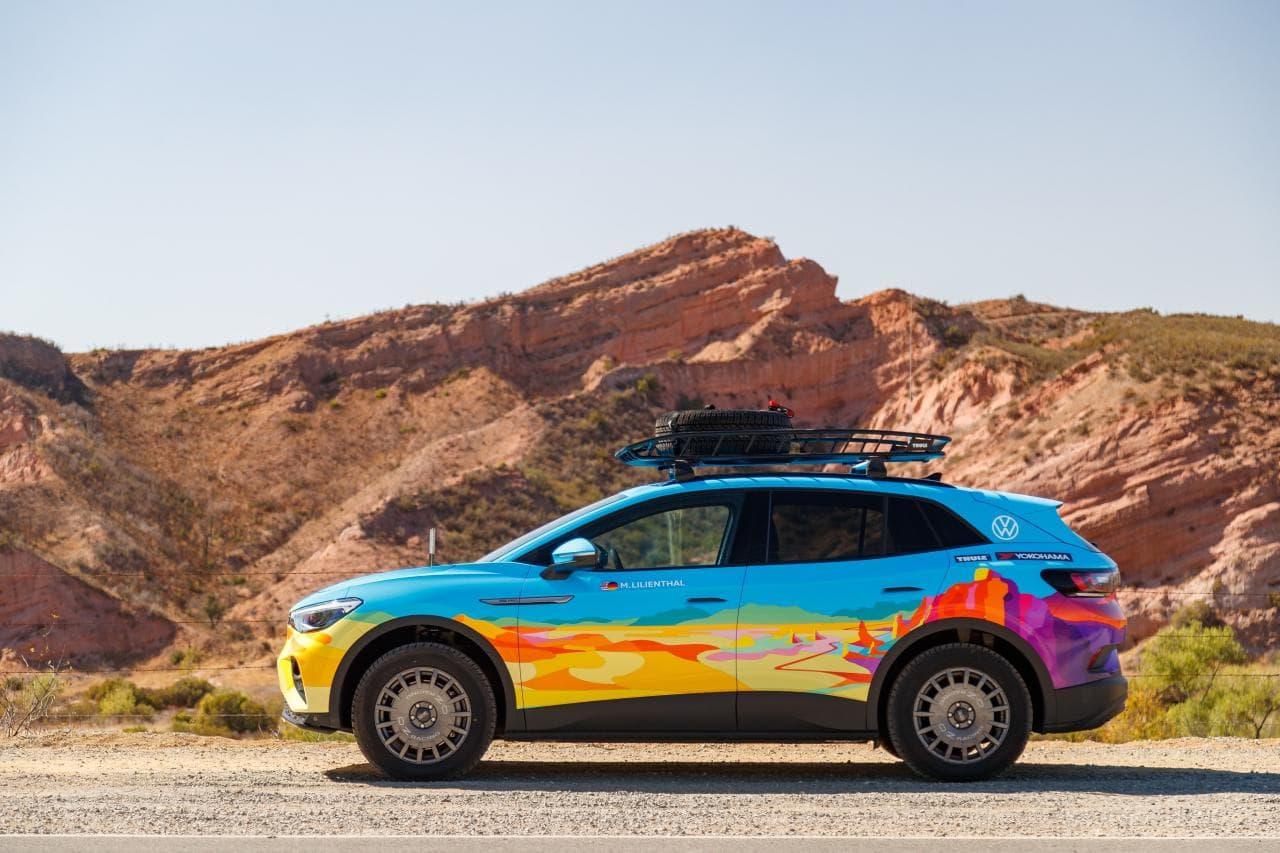 Modifizierter VW ID.4 AWD Pro stellt sich 2.200 km Rallye