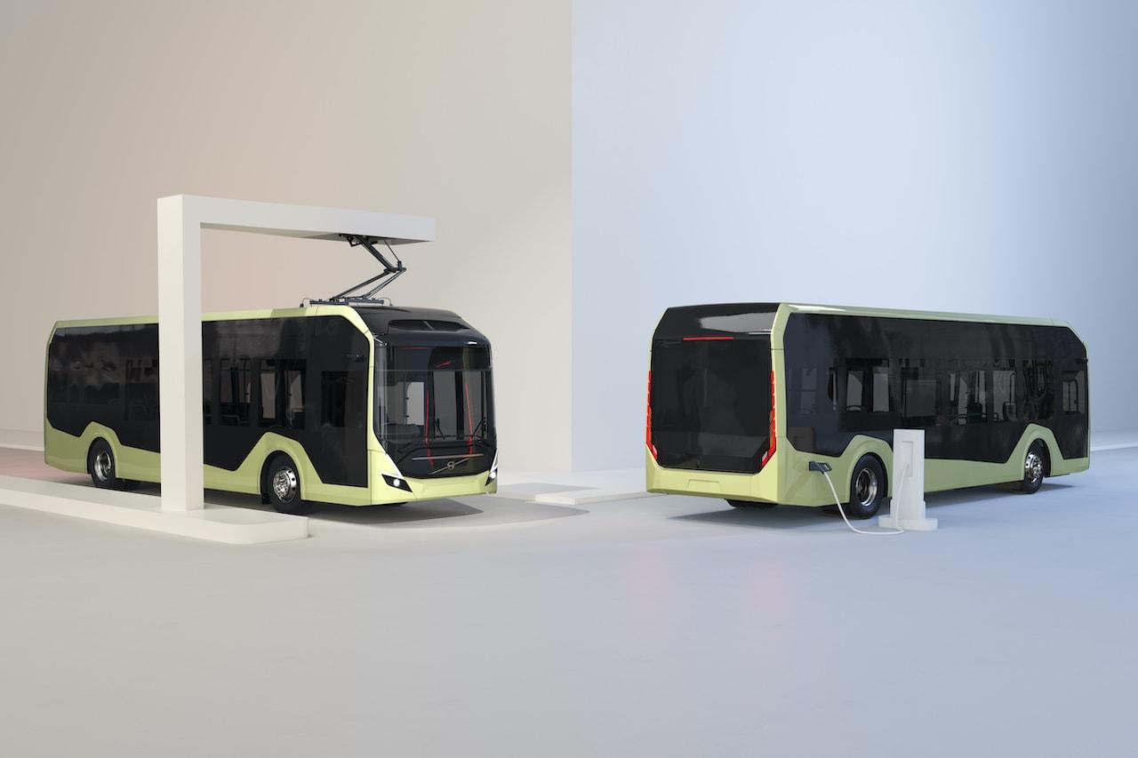 Volvo BZL Electric Elektrobus Chassis-Pantograph